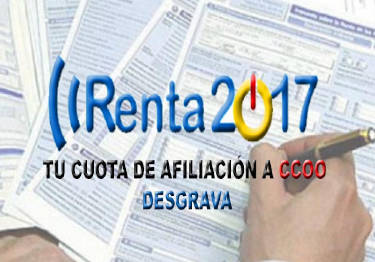 Resultado de imagen de declaracion renta ccoo 2017